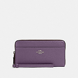 COACH 76517 Accordion Zip Wallet SV/DUSTY LAVENDER