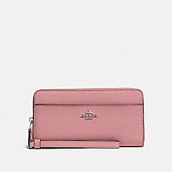 COACH 76517 Accordion Zip Wallet SV/LIGHT BLUSH