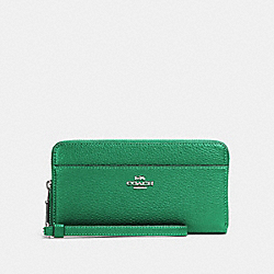 COACH 76517 Accordion Zip Wallet SV/SHAMROCK