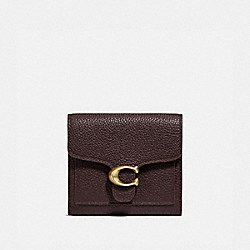 COACH 76527 Tabby Small Wallet OXBLOOD/BRASS