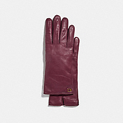 COACH 76609 Sculpted Signature Leather Tech Gloves VINTAGE MAUVE