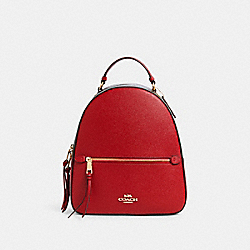 JORDYN BACKPACK WITH SIGNATURE CANVAS DETAIL - 76622 - IM/BROWN 1941 RED