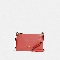 COACH 76645 Mia Crossbody IM/BRIGHT CORAL
