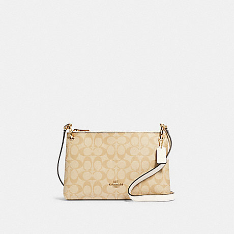COACH 76646 MIA CROSSBODY IN SIGNATURE CANVAS IM/LIGHT-KHAKI-CHALK