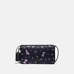 DISNEY X COACH DINKY WITH MIXED DALMATIAN PRINT - 76759 - V5/INK