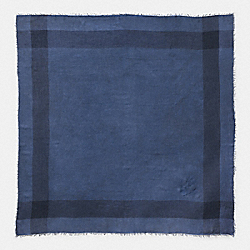 DENIM WINDOWPANE CHALLIS - DENIM - COACH 77762