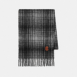 HUNTING PLAID PRINT OVERSIZED MUFFLER - 77833 - CHALK