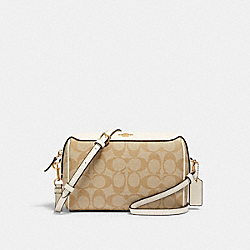BENNETT CROSSBODY IN SIGNATURE CANVAS - 77879 - IM/LIGHT KHAKI CHALK