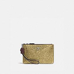 COACH 77964B Boxed Small Wristlet SILVER/GOLD