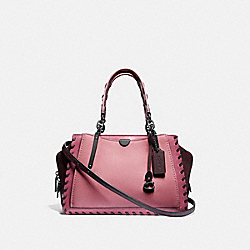 COACH 78146 Dreamer In Colorblock With Whipstitch TRUE PINK MULTI/PEWTER
