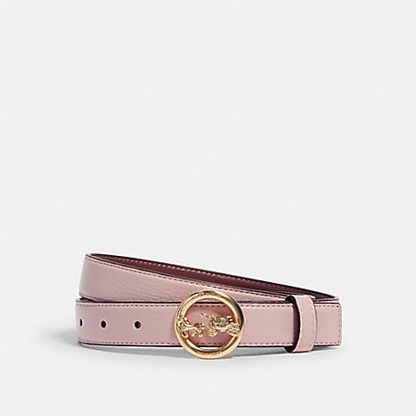 COACH 78181 HORSE AND CARRIAGE BUCKLE BELT, 25MM IM/BLOSSOM