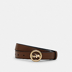 COACH 78181 Horse And Carriage Buckle Belt, 25mm IM/SADDLE BLACK