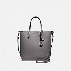 COACH 78217 Central Shopper Tote GUNMETAL/HEATHER GREY