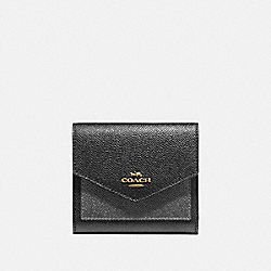 COACH 78268 - SMALL WALLET IN COLORBLOCK B4/METALLIC BLACK MULTI