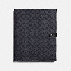 TECH PORTFOLIO IN SIGNATURE CANVAS - CHARCOAL - COACH 78339
