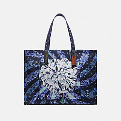 COACH 78511 Tote 42 With Kaffe Fassett Print BLUE/PEWTER