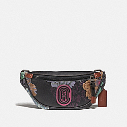 COACH 78561 - MINI RIVINGTON BELT BAG WITH KAFFE FASSETT PRINT V5/BLACK MULTI
