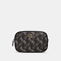COACH 78603 - CONVERTIBLE BELT BAG WITH HORSE AND CARRIAGE PRINT IM/BLACK GREY MULTI