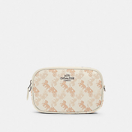 COACH 78603 CONVERTIBLE BELT BAG WITH HORSE AND CARRIAGE PRINT SV/CREAM-BEIGE-MULTI