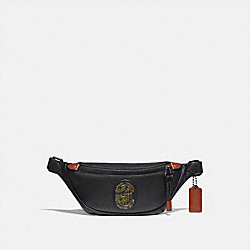COACH 78621 - RIVINGTON BELT BAG 7 WITH KAFFE FASSETT COACH PATCH JI/BLACK