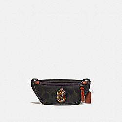 COACH 78622 - RIVINGTON BELT BAG 7 WITH WILD BEAST PRINT AND KAFFE FASSETT COACH PATCH JI/MILITARY WILD BEAST