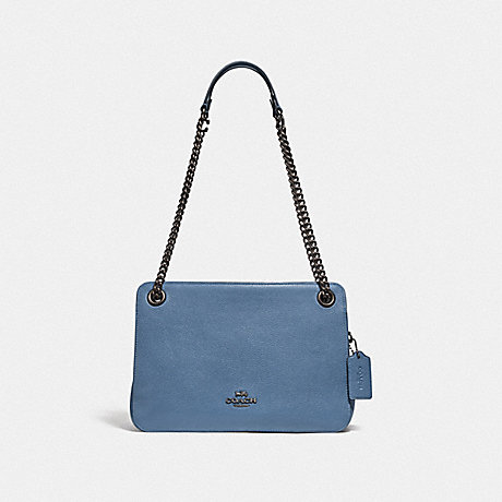 COACH 78798 BRYANT CONVERTIBLE CARRYALL PEWTER/STONE-BLUE