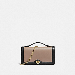 RILEY CHAIN CLUTCH IN COLORBLOCK - 78810 - STONE MULTI/BRASS