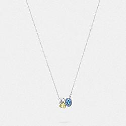 SIGNATURE CRYSTAL CLUSTER SLIDER NECKLACE - 78823 - SILVER/BLUE