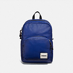 COACH 78828 Pacer Tall Backpack With Coach Patch BLACK COPPER/SPORT BLUE