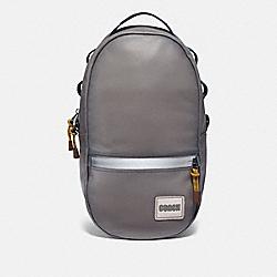 COACH 78829 Pacer Backpack With Coach Patch BLACK COPPER/HEATHER GREY