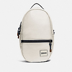 PACER BACKPACK WITH COACH PATCH - 78830 - BLACK COPPER/CHALK