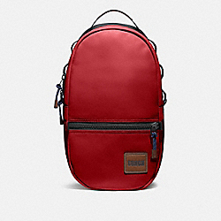 COACH 78830 Pacer Backpack With Coach Patch JI/CARDINAL