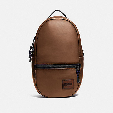 COACH 78830 PACER BACKPACK WITH COACH PATCH JI/SADDLE