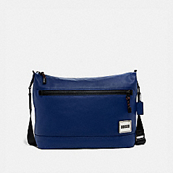COACH 78831 Pacer Messenger BLACK COPPER/SPORT BLUE