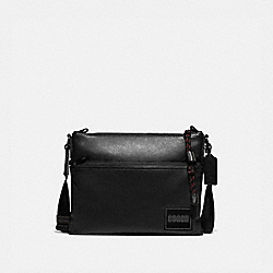 PACER CROSSBODY WITH COACH PATCH - 78834 - BLACK COPPER/BLACK