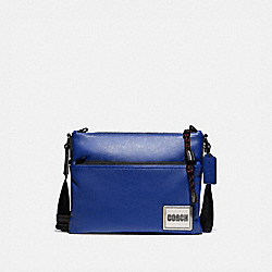 COACH 78834 Pacer Crossbody With Coach Patch BLACK COPPER/SPORT BLUE