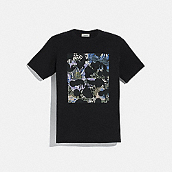 COACH 78872 - WILD BEAST T-SHIRT WITH KAFFE FASSETT PRINT BLACK