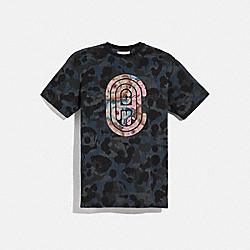 COACH 78885 Wild Beast Coach T-shirt With Kaffe Fassett Print BLUE MULTI