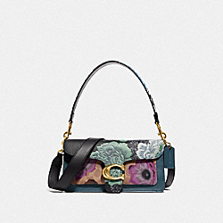 TABBY SHOULDER BAG 26 IN SIGNATURE CANVAS WITH KAFFE FASSETT PRINT - 79000 - V5/TAN PURPLE MULTI