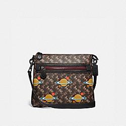 OLIVE CROSSBODY WITH HORSE AND CARRIAGE PRINT AND PLANETS - V5/BROWN BLACK - COACH 79026
