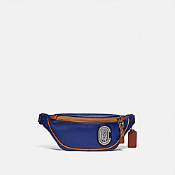 COACH 79045 - RIVINGTON BELT BAG 7 WITH REFLECTIVE COACH PATCH JI/SPORT BLUE MULTI