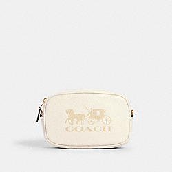 CONVERTIBLE BELT BAG WITH HORSE AND CARRIAGE - 79212 - IM/CHALK
