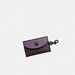 COACH 79232G - Turnlock Card Case in Colorblock DUSTY LAVENDER MULTI