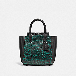 TROUPE TOTE 16 IN SNAKESKIN - 79295 - PEWTER/PINE GREEN