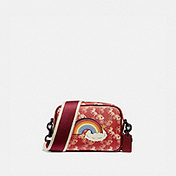 COACH 79369 - CAMERA BAG 16 WITH HORSE AND CARRIAGE PRINT AND RAINBOW V5/RED DEEP RED