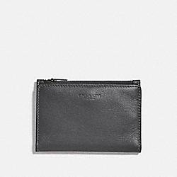 COACH 79382 Bifold Zip Card Case GREY/SILVER