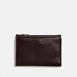 COACH 79382 Bifold Zip Card Case UMBER/CLAY