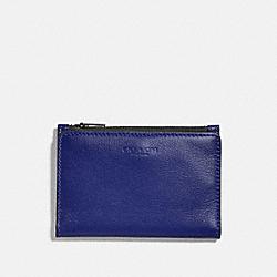 COACH 79382 Bifold Zip Card Case SPORT BLUE/SILVER
