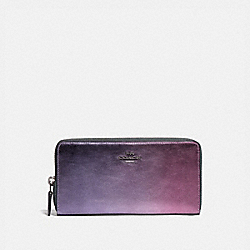 COACH 79425 - ACCORDION ZIP WALLET WITH OMBRE PEWTER/MULTI