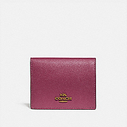 COACH 79427 - SMALL SNAP WALLET BRASS/DUSTY PINK
